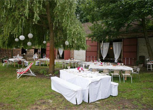 Hochzeiten Berlin -  Für eine natürliche und rustikale Scheunenhochzeit bietet der Mühlenhof das passende Ambiente.  Auch für Feier unter freiem Himmel, sowie viel Spielraum für eigene Ideen und Kreationen.  Das Anwesen befindet sich im Südwesten von Berlin.