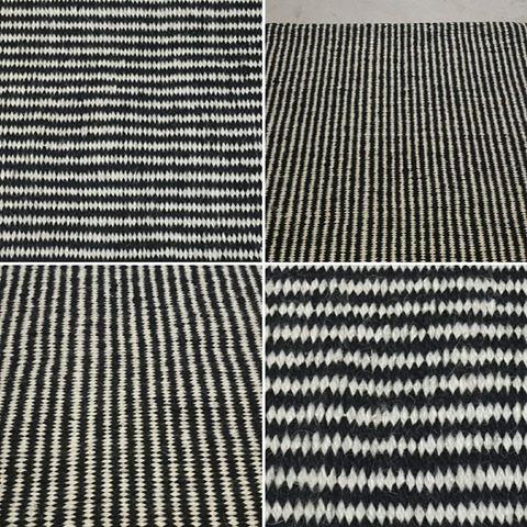 Rayitas. Así, en diminutivo, porque son finitas y crean un diseño modernisimo y relajado. Lo podemos hacer combinando los colores que quieras en el tamaño que necesites y, como siempre, en pura lana 100% natural tejida a mano en telar con comercio justo.