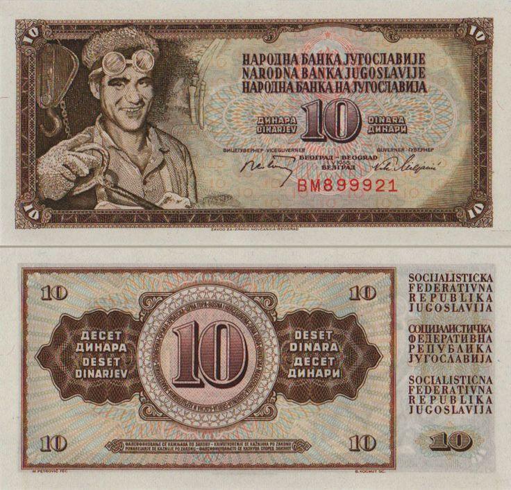 10 SFR Yugoslavia Dinars [1968]   Lijepa Sijecanja. SFRJ   Pinterest