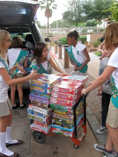 A local Junior Girl Scout troop helped solve the puzzle of boredom for children and their families receiving care at Sunrise Children's Hospital, 3186 S. Maryland Parkway. Girl Scouts of Sout…