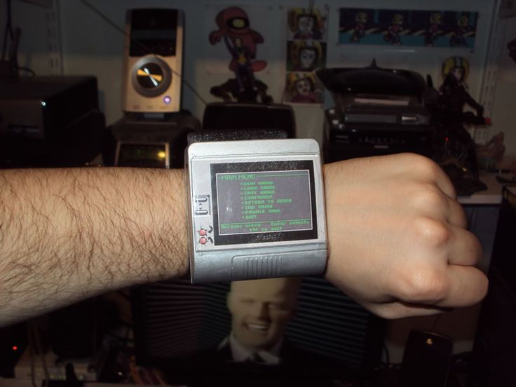 Commander Keen wristwatch!  Let's play some paddle war