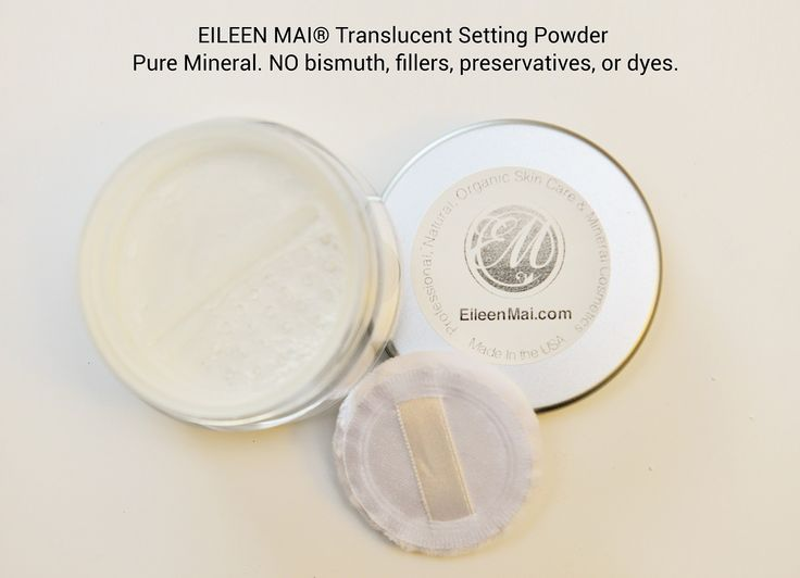 Natural Silky Skin Translucent Setting Powder Pure mica and aloe vera powder, without bismuth oxychloride, preservatives, oil or chemicals.
