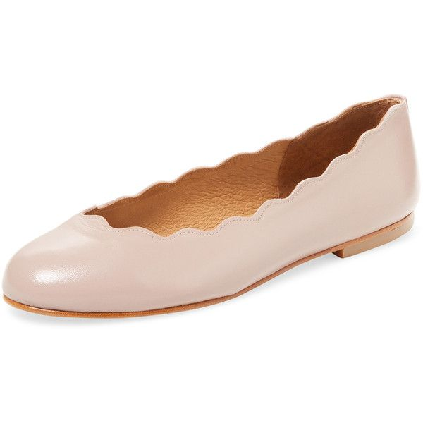 French Sole FS/NY Women's Teardrop Leather Ballet Flat - Cream/Tan,... ($159) ❤ liked on Polyvore featuring shoes, flats, cream ballet flats, synthetic leather shoes, leather upper shoes, ballerina shoes and tan leather shoes