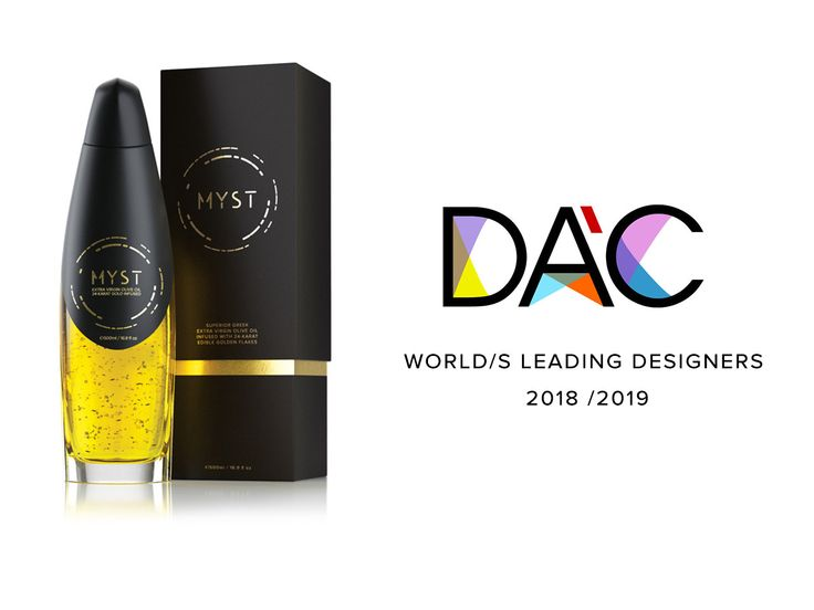 About the DAC AWARD: DAC certifies that the Myst Design Team was ranked #50 from the top, among all designers who have competed in the Packaging Design Award in the last 10 years. #design #packaging #oliveoil
