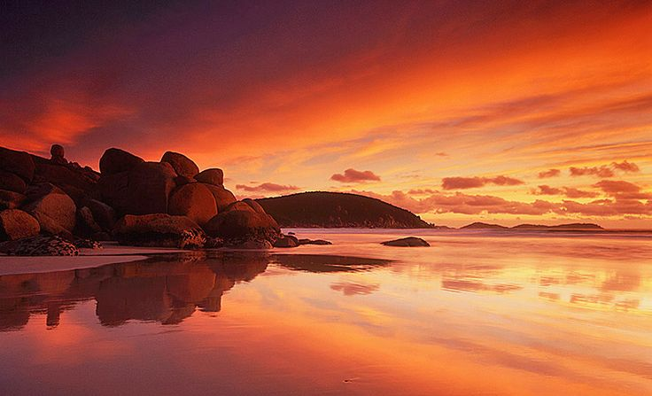 Whisky Bay Wilsons Prom VIC sunset