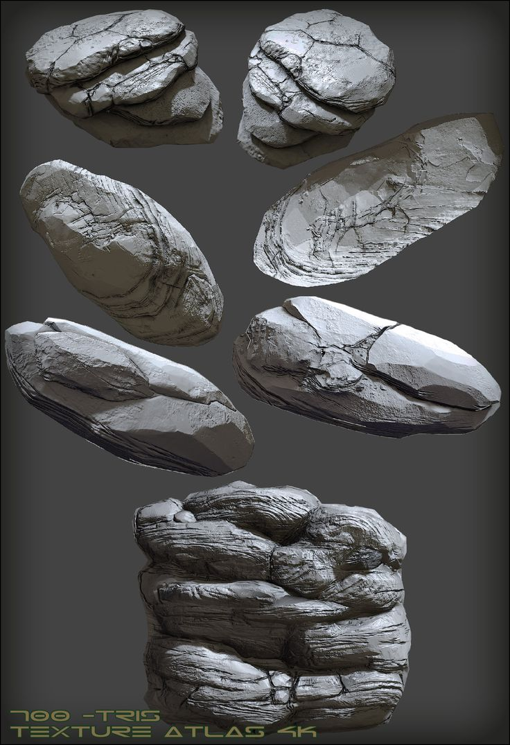ArtStation - Low-Poly Rocks, Mark Khabib