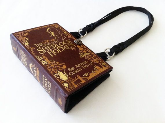 This reinvented quality leather bound classic book has been turned into a fun occasion purse.    Made just the right size at 7 inches from top to