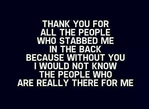 Back stabbing | Quotes of Inspiration | Pinterest
