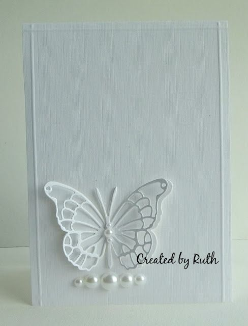 A quick card to share - I wanted to make a card for a work colleague who's just lost her Grandma. I wanted a butterfly and something simple...