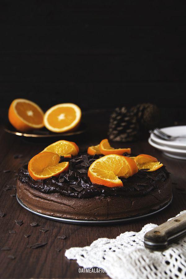 Czekoladowo-pomarańczowe ciasto jaglane
