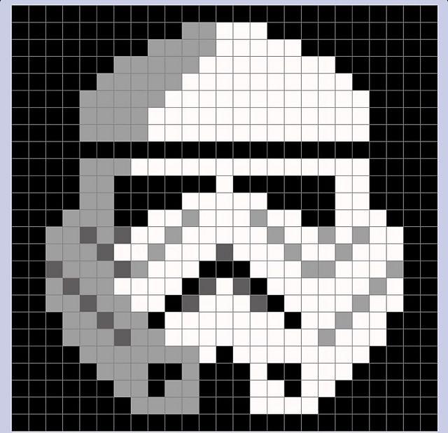 Ravelry: Tina2013's Star Wars Stormtrooper Pixel Blanket