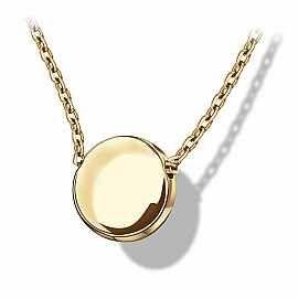 Staviori Naszyjnik. Żółte Złoto 0,333. Średnica kulki 6,7 mm. Długość regulowana dowolnie.