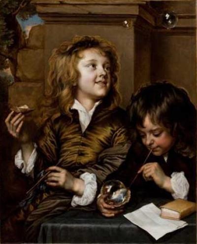 Adriaen Hanneman Two Boys Blowing Bubbles - Soap bubble - Wikipedia, the free encyclopedia