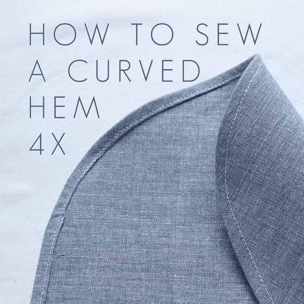 Tutorial: Sew a Curved Hem 4x (CHARLOTTE KAN - Sewing Blog)