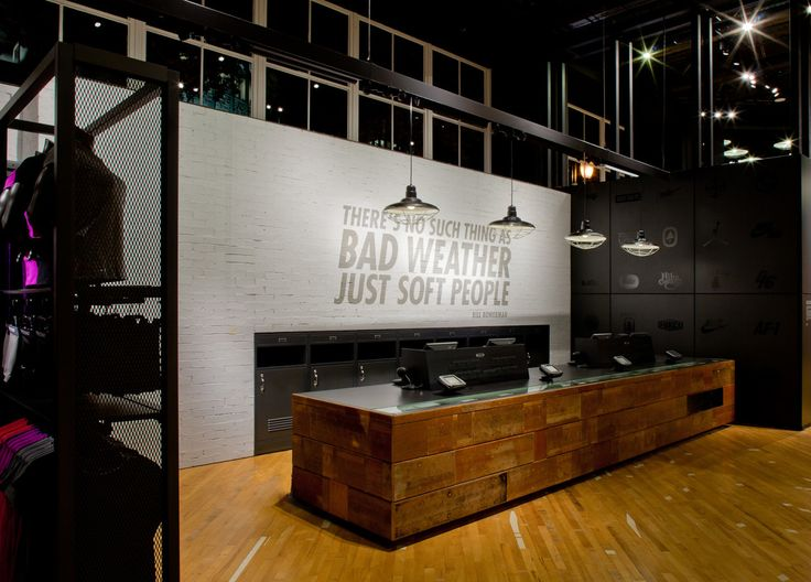 "NIKE RETAIL DESIGN, ""Please Pay Here"",pinned by Ton van der Veer"