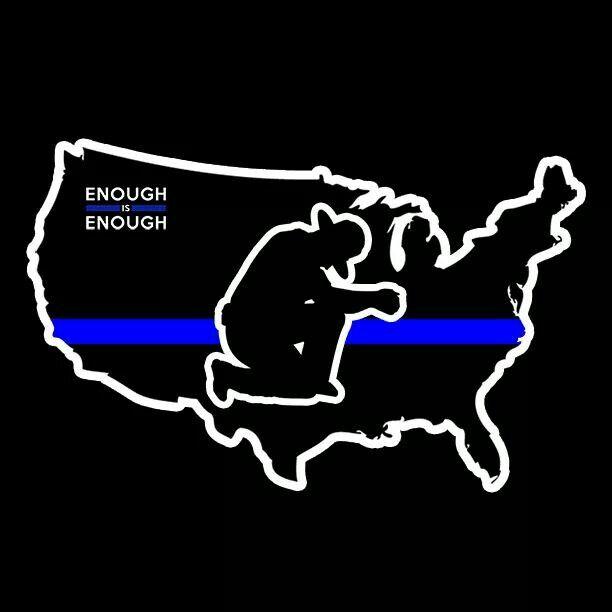 God Bless the #ThinBlueLine! #BackTheBadge #BlueLivesMatter