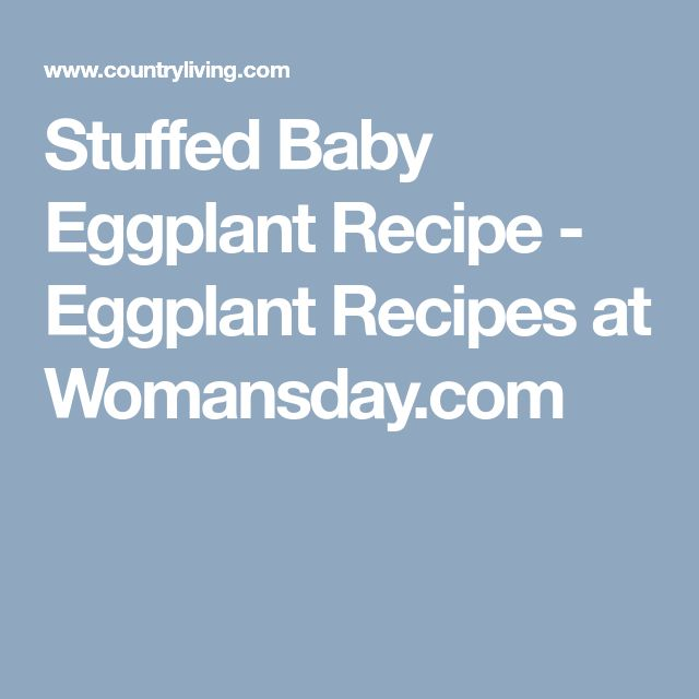 Stuffed Baby Eggplant Recipe - Eggplant Recipes at Womansday.com