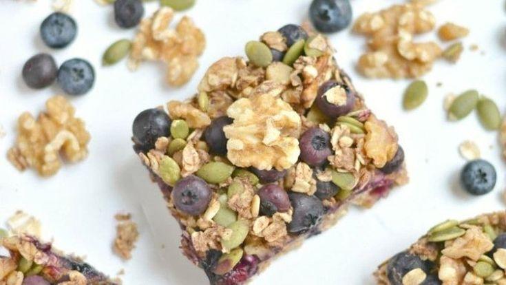Blueberry Protein Walnut Breakfast Bars - California Walnuts