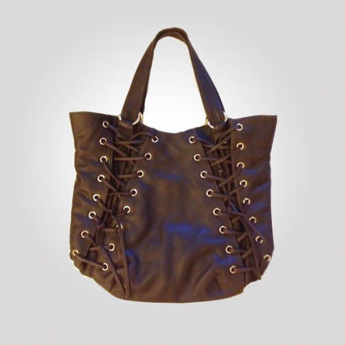 Rita Corset Tote was $318 now $72.56  Top handles tote, magnet closure corset hand stitched details.