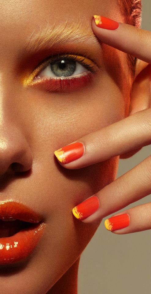 Photographer Benjamin Becker beauty makeup lips nails fashion magazine cover hai…