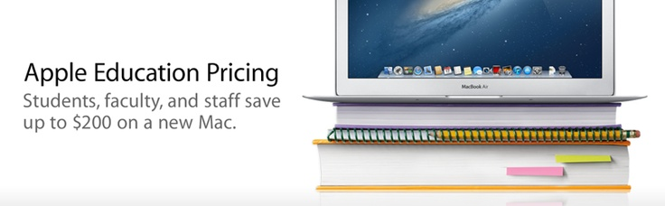 (Macbook Air) Apple Education Pricing. Students, faculty, and staff save up to $200 on a new Mac.