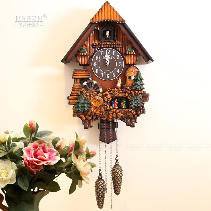 Kairos  cuckoo clock fashion rustic mute photoswitchable timekeeping clock for childern