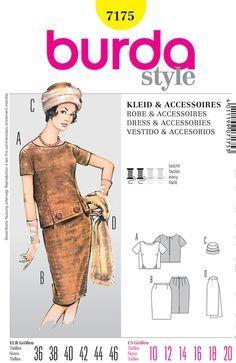 Misses 60er Retro zweiteilige Kleid  Top Rock von ThePatternSource