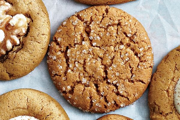 Chewy Ginger Sparkles.   Uses Canadian Living's Basic Ginger Cookie Dough.   Don't overbake, otherwise you have Gingersnaps.   LOL