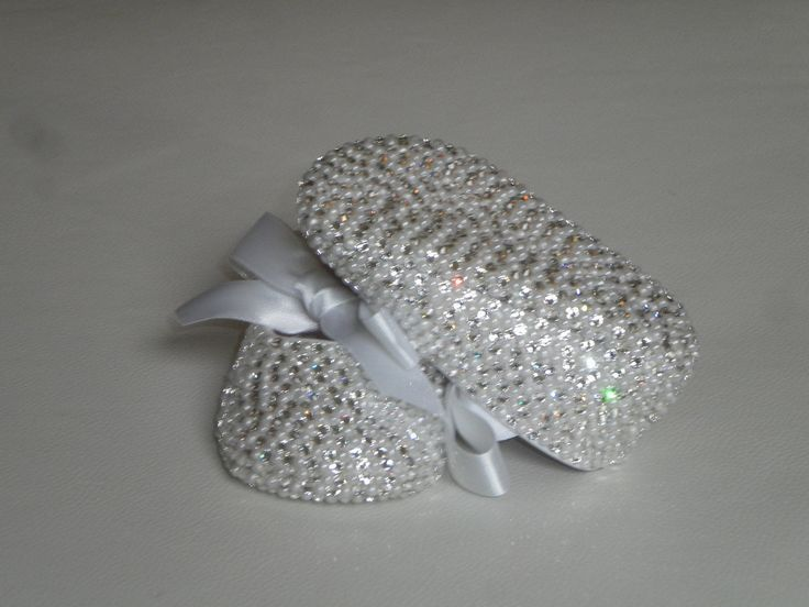 Diamonds And Pearls Completely Covered Swarovski Crystal Rhinestone Shoes Bling Baby Shoes. $160.00, via Etsy.
