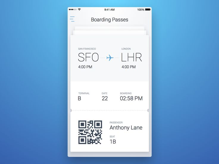 7th Week (Wednesday) - Boarding Pass by Ron Evgeniy