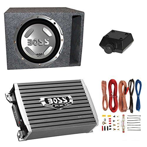 """Boss Audio 12"""" 1400W Subwoofer + 1500W Amplifier w Amp Kit +QPower 12"""" Enclosure. For product info go to:  https://www.caraccessoriesonlinemarket.com/boss-audio-12-1400w-subwoofer-1500w-amplifier-w-amp-kit-qpower-12-enclosure/"""