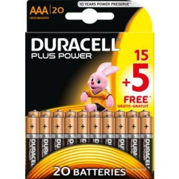Duracell Power Plus alkaline batterijen AAA 155 gratis nvt  Duracell Plus Power geeft tot 40% meer energie vs. Duracell Simply AA (Maximaal verschil in digitale camera's resultaten verschillen per apparaat). Deze multi-purpose batterijen zijn ideaal voor gebruik in dagelijkse apparaten. Duracell Plus Power biedt u de vrijheid om van het gebruik van uw apparaten te genieten door u een product te bieden waar u op kunt vertrouwen en dat het beste is als u op zoek bent naar betrouwbaar…