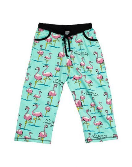 Long Day Flamingo PJ Capri Pant
