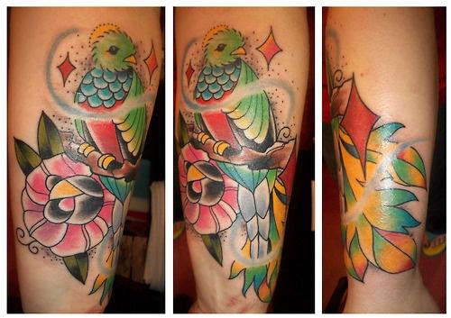 Traditional tattoo, quetzal tattoo - Bird tattoos