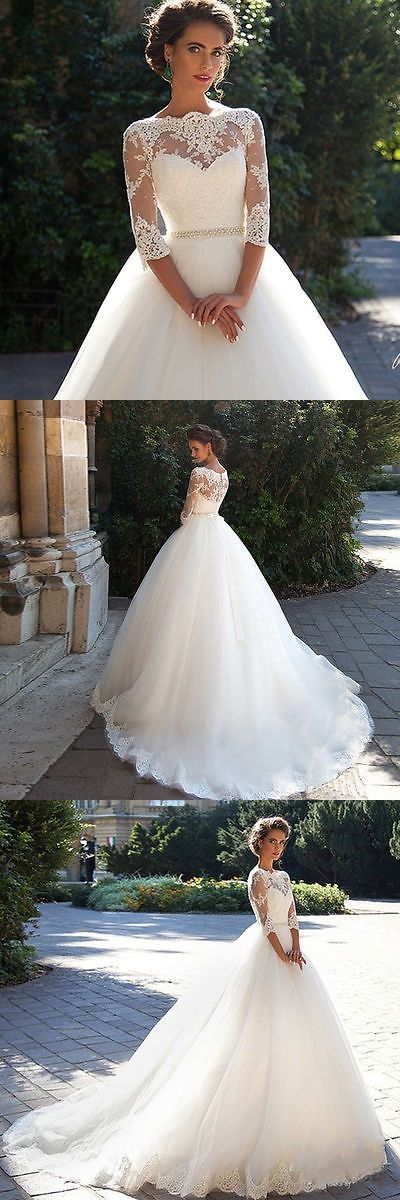 Wedding Dresses: New White/Ivory Lace Wedding Dress Bridal Gown Custom Size:6 8 10 12 14 16 18+++ BUY IT NOW ONLY: $119.0