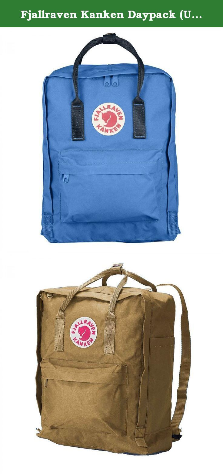 Fjallraven Kanken Daypack (UN Blue-Navy, One Size). Simple yet functional backpack;Unisex Classic, Clean Design;16 Liter Volume;Outer material: Vinylon F 100% Vinylal;Vinylon F is the name of the hard-wearing fabric that has contributed to Kanken's popularity over the years. While being a synthetic material - it is made of a fiber called polyvinyl alcohol - it has certain properties that are otherwise mostly found in natural materials. Vinylon fiber behaves like a natural material and…