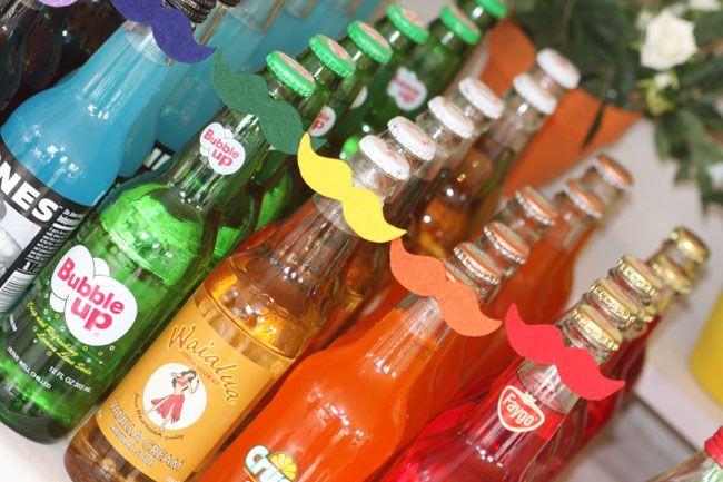 Rainbow drinks with mustaches! - Mysaucymustache.etsy.com