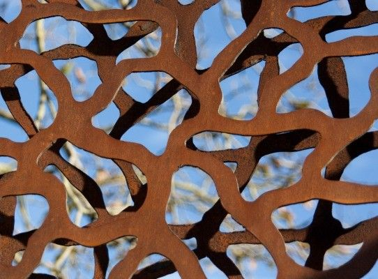 Corten Steel Garden Screen, Cut Out By Hand With Plasma Cutter Machine |  Lebesque Design