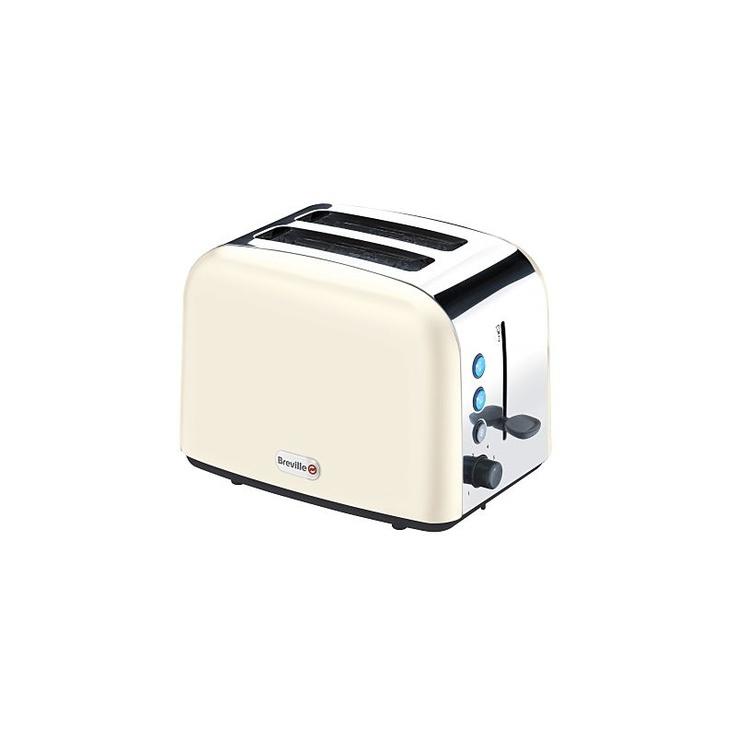 Breville Vtt132 Cream Stainless Steel 2 Slice Toaster