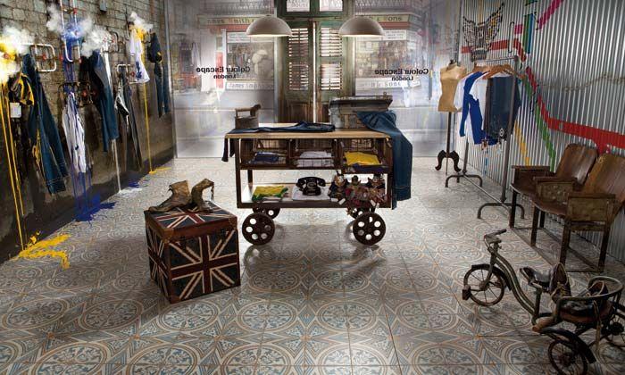 Suelos para interiorismo y decoración vintage.