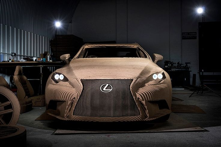 #Lexus unveiled a full-size model replica of its IS compact sports sedan, created from 1,700 10-mm pieces of laser-cut cardboard. Lexus says the project was inspired by the company's takumi craftspeople who painstakingly — and precisely — assemble the brand's cars.