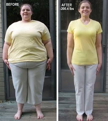 Before and After Weight Loss Photo -- Feel what it will be like to more than 38.5 lbs in 1 month... looking at your sexy, slim, happy new you in the mirror!