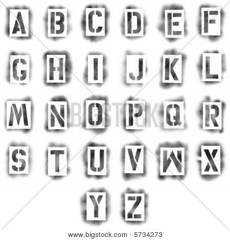 Spray Paint Stencil Letters Font Home Painting