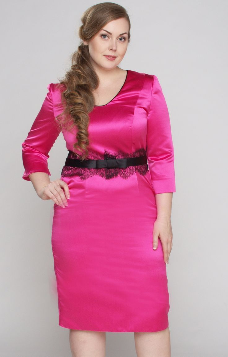 Pretty pink satin dress, but it's what's filling that dress out it ...