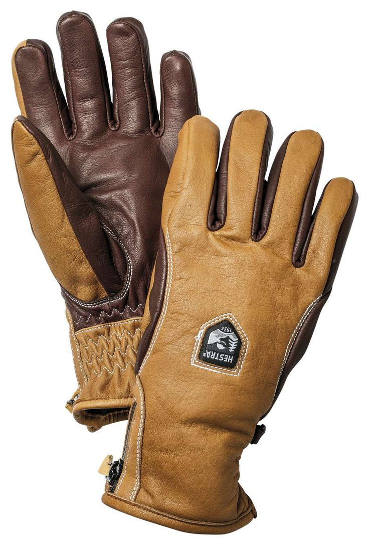 Leather work gloves with wool lining - An Exclusive Leather Ski Glove With A Slim Fit Warm And Breathable Swisswool Insulation And
