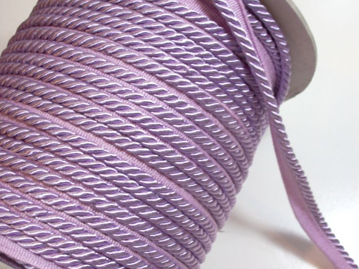Purple Lip Cord, Lilac Purple Braided Lip Cord Trim 3/16 inch x 3 yards, DecoPro Style 0316S Color D7 by GriffithGardens on Etsy https://www.etsy.com/listing/199936195/purple-lip-cord-lilac-purple-braided-lip