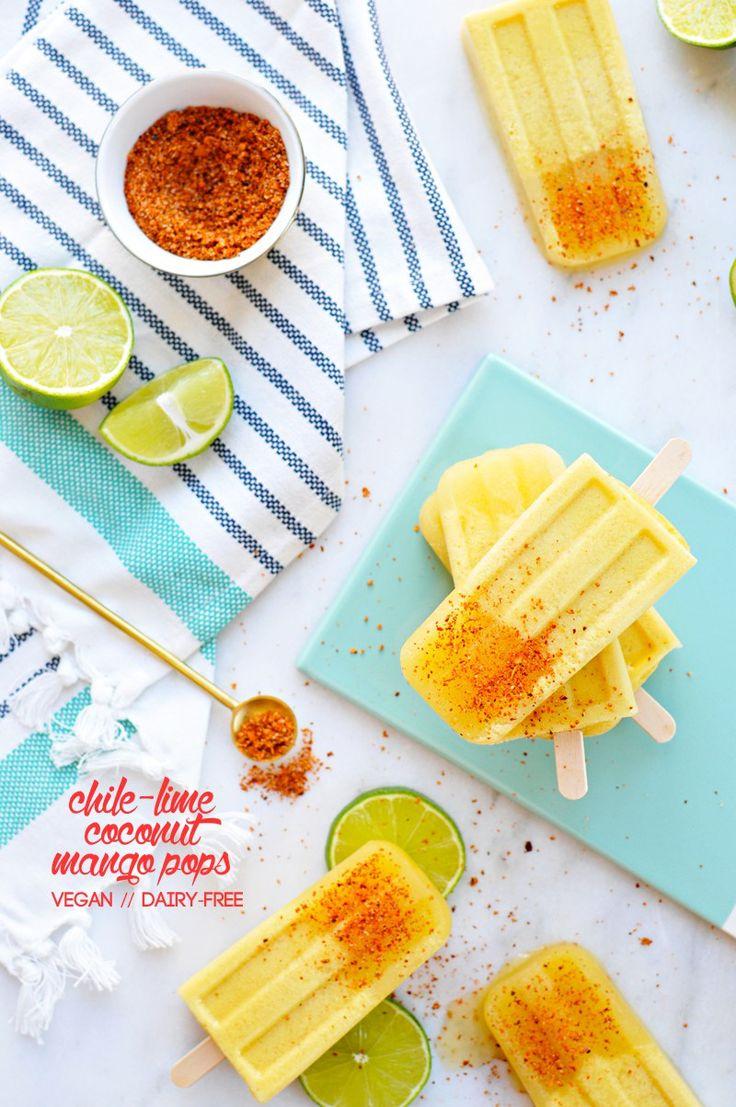 Chile-Lime Mango Coconut Pops recipe (via thepigandquill.com) #vegan #dairyfree
