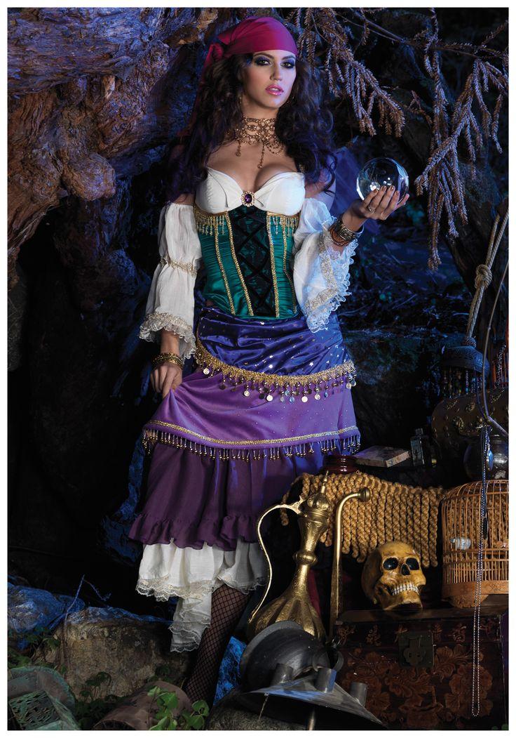 Deluxe Tarot Card Gypsy Costume | halloween | Gypsy ...