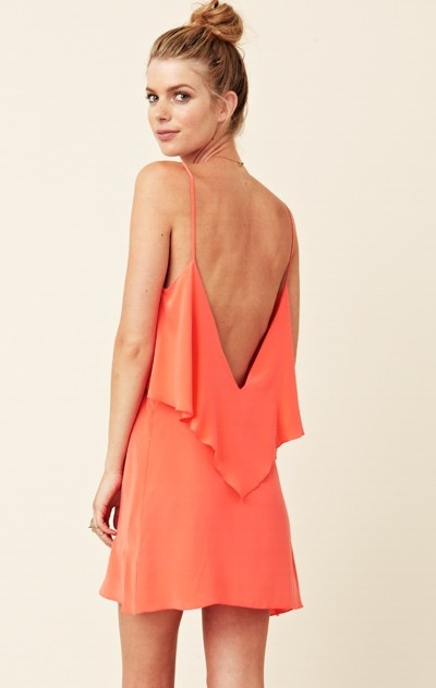 coral backless dress sexy yet classy