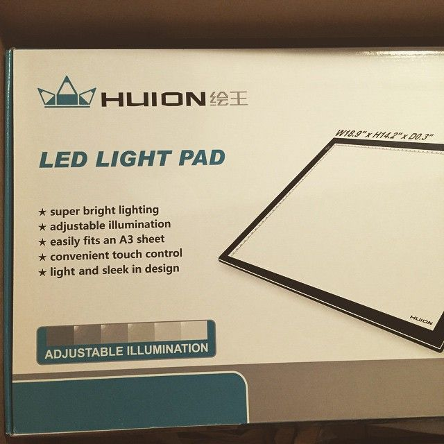 """""""So excited to use this"""" by quinning321 on Instagram Huion A3 Light Pad http"""